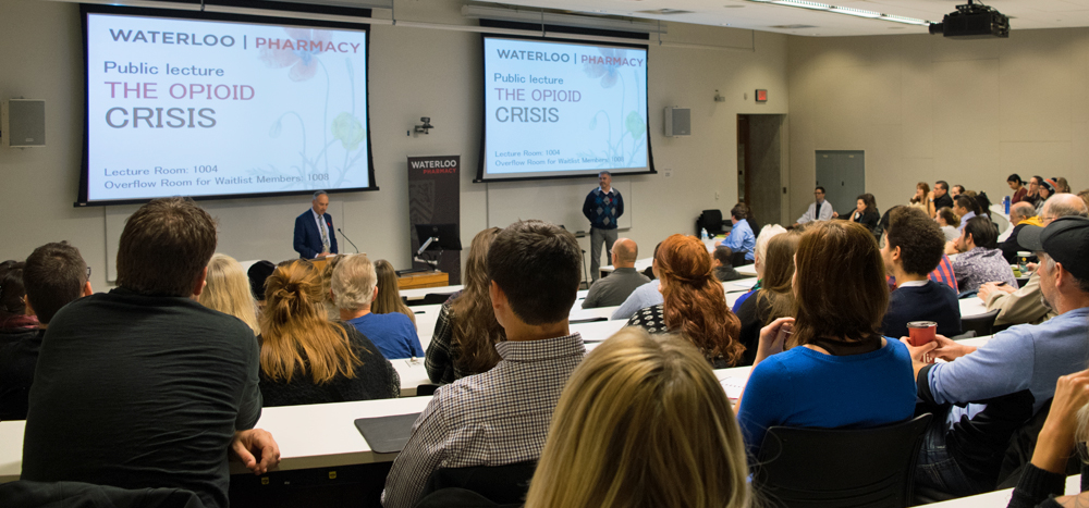 Waterloo's School of Pharmacy opens its 2016 pubic lecture on the opioid crisis.