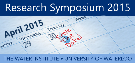 Water Institute 2015 Research Symposium on April 30th - Save the Date