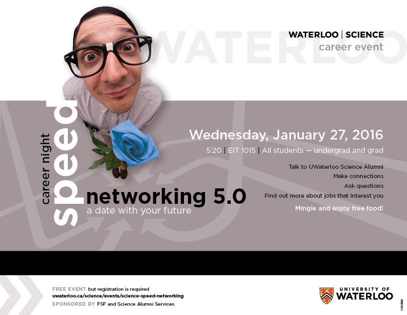 Science Speed Networking Poster