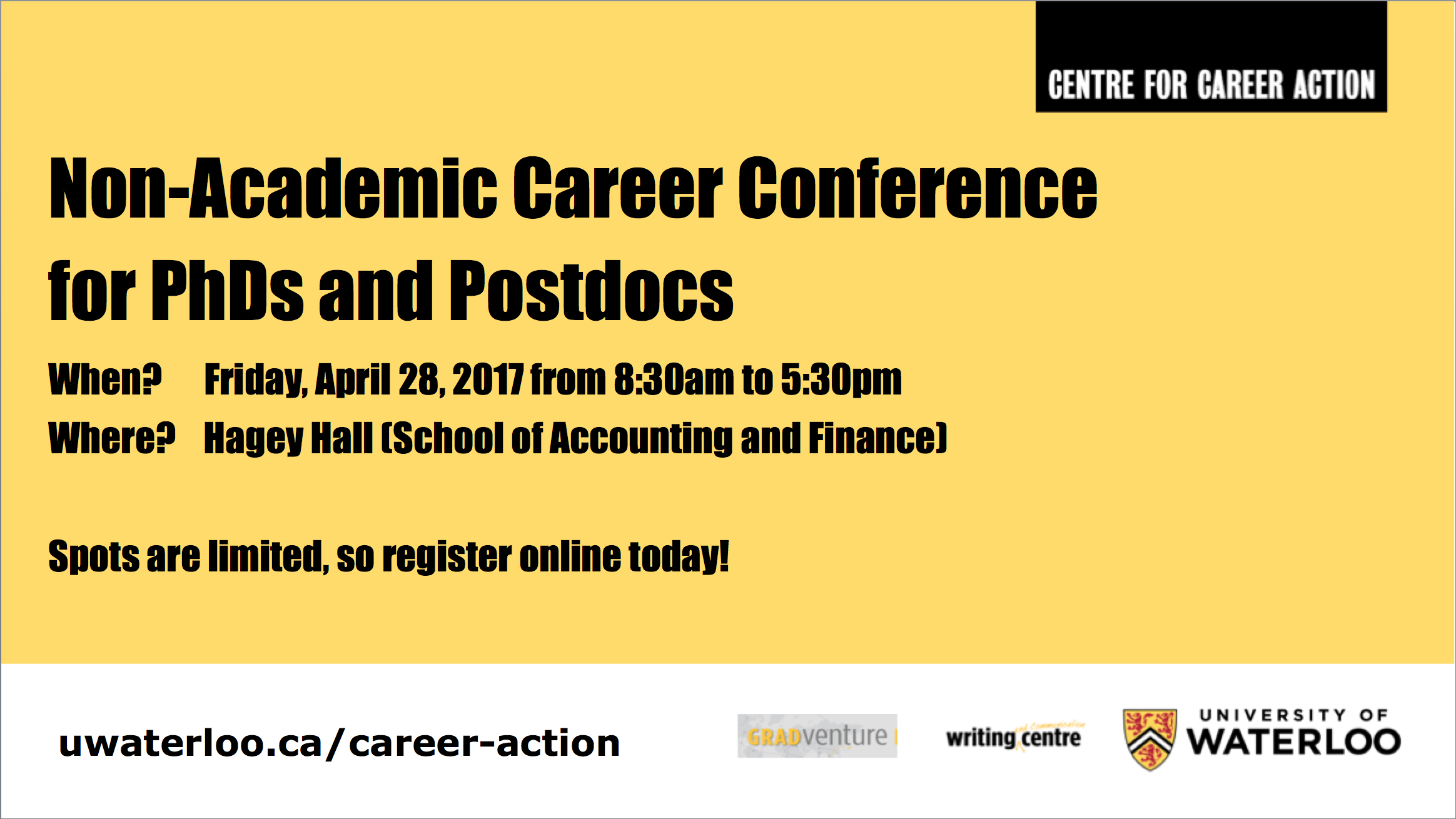 non-academic for postdocs and phds banner