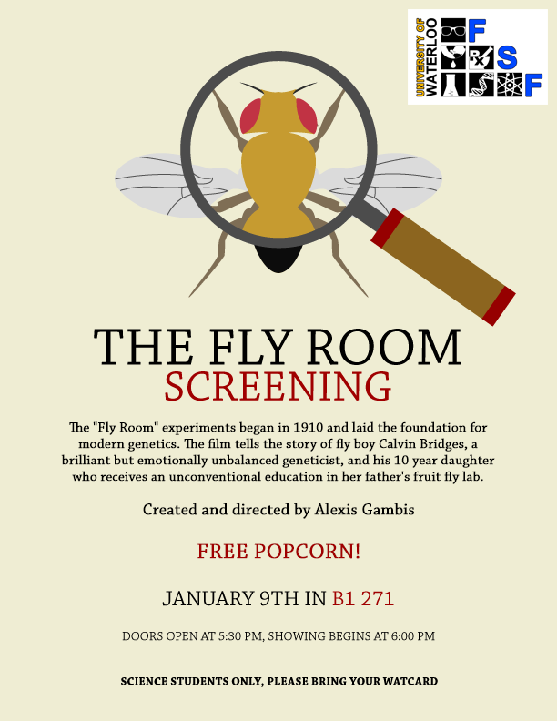 The Fly Room screening event poster.