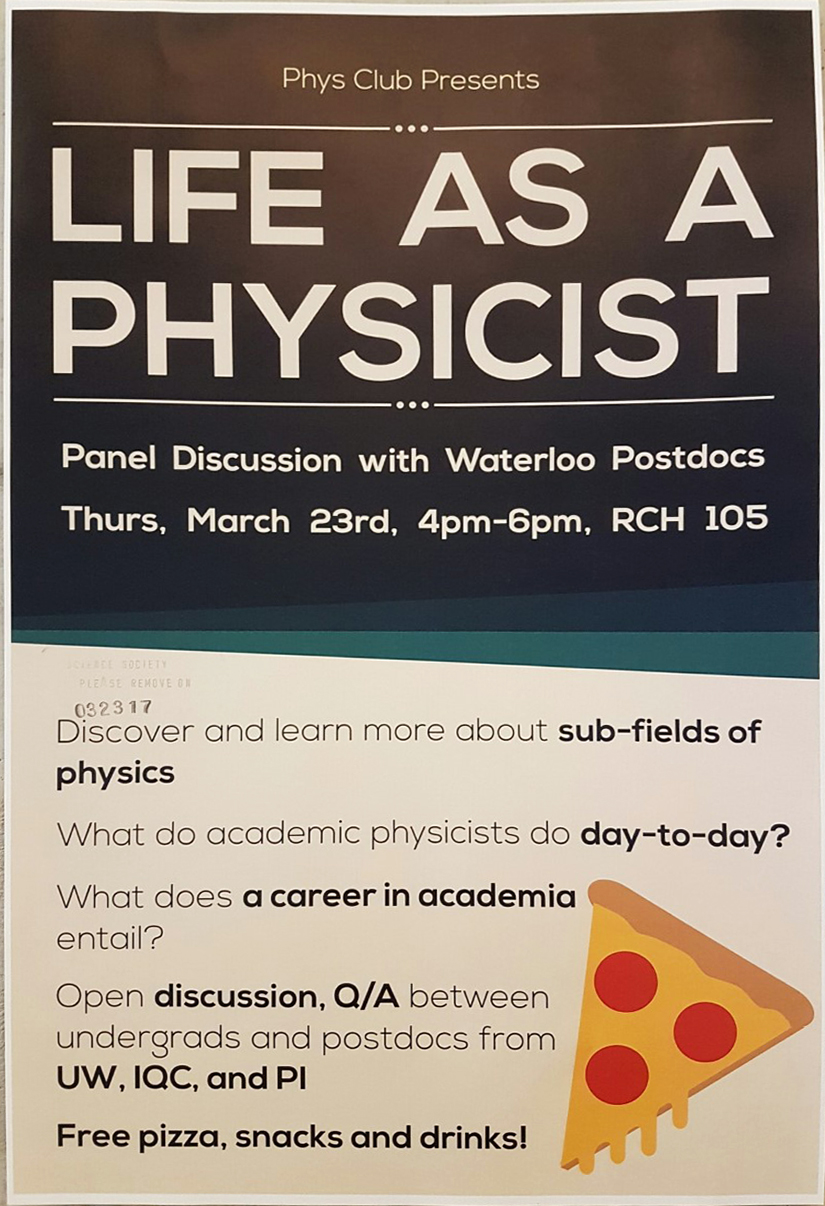 Physicist event poster