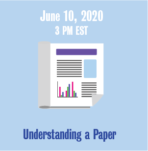 June 10, 2020 3 PM Understanding a Paper with newspaper icon