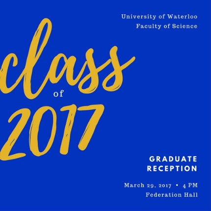 Class of 2017 grad reception invitation.