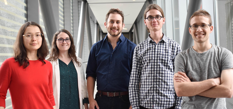 Group image of five of the 2018 Vanier scholars