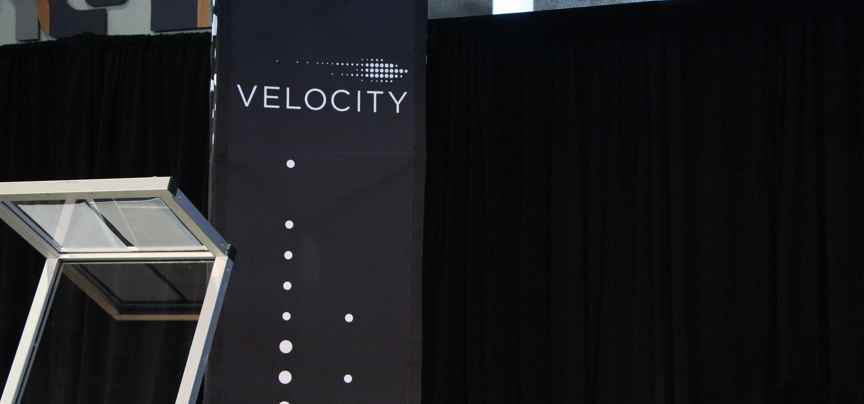 Empty Velocity Fund Final stage with podium