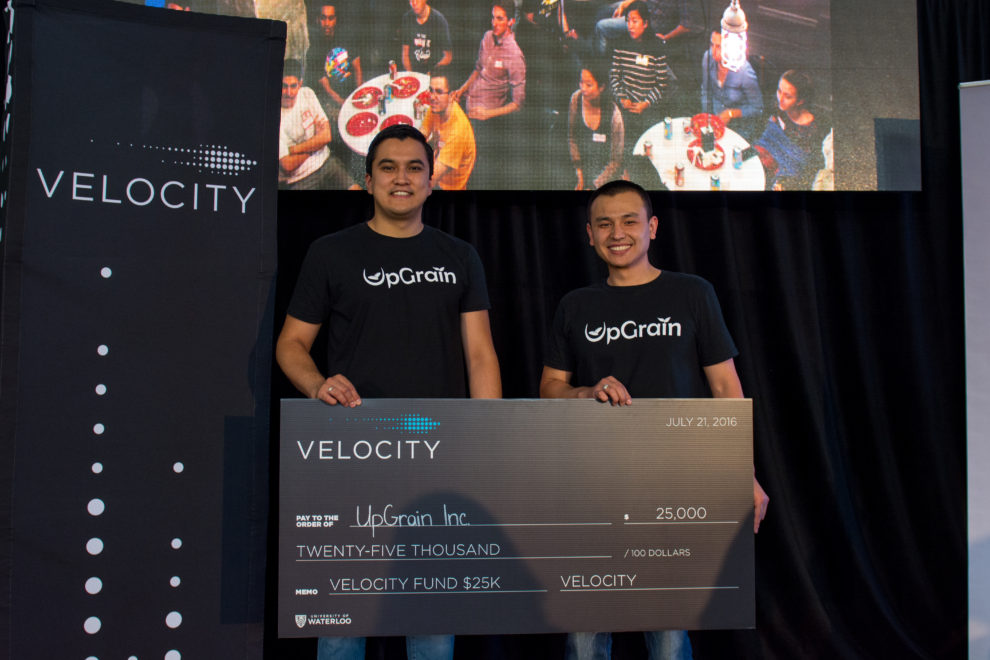 UpGrain founders with large cheque