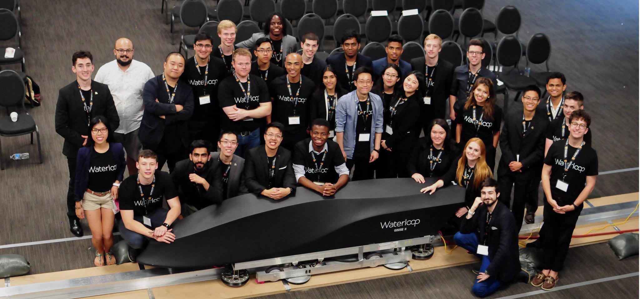 Waterloop design team members.