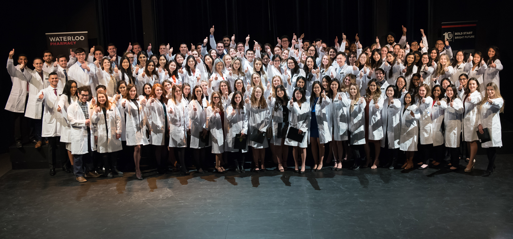 School of Pharmacy's Class of Rx2021 at the White Coat Ceremony.