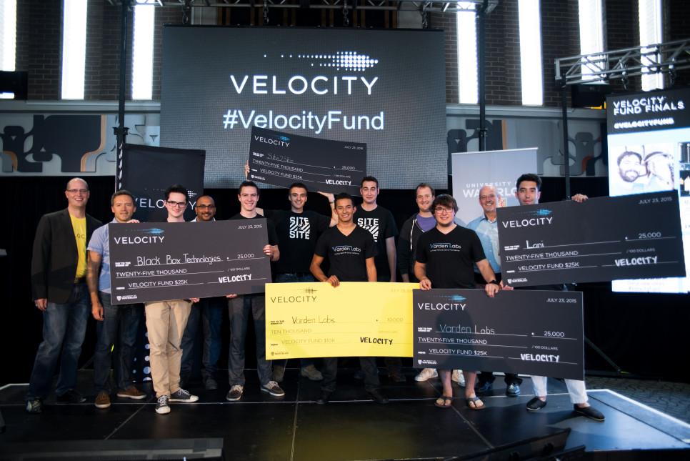 Velocity Fund Finals winning teams.