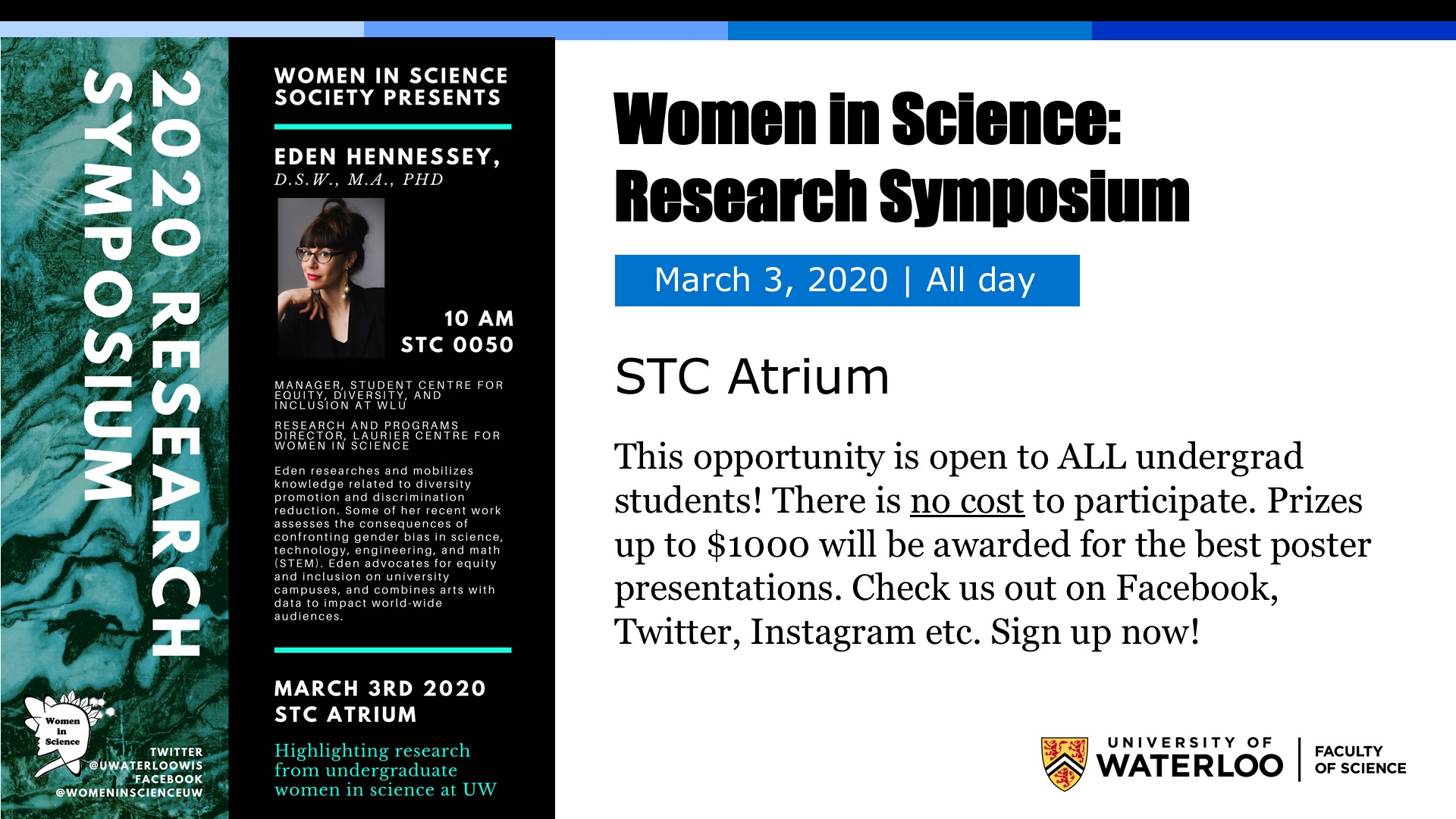 Women in Science Research Symposium poster
