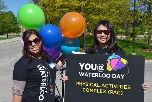 You @ Waterloo Day volunteers with sign