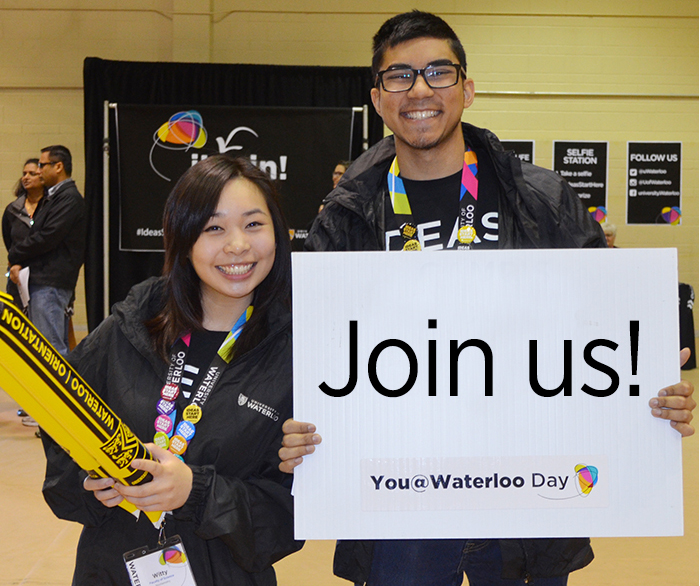 Join us for You @ Waterloo day May 26, 2018.