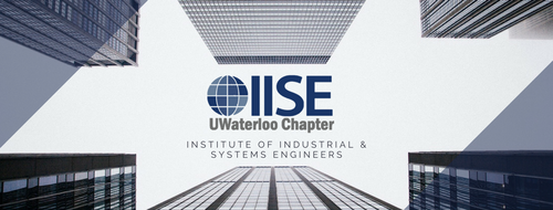IISE logo - team name surrounded by tall industrial buildings