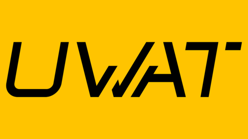 Yellow background with the letters U W A T in bold black in centre