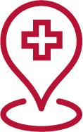 hospital map pin icon