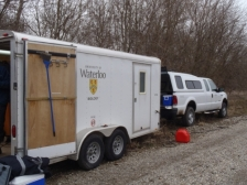 Sample trailer and truck