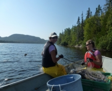 Gill netting in Lake Superior