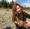 Jess Kidd with a Brown Trout