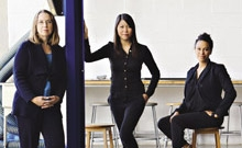 Researchers and scholars Sue Ann Campbell, Nerissa Wong and Beth Coleman