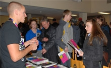People asking questions at the information night