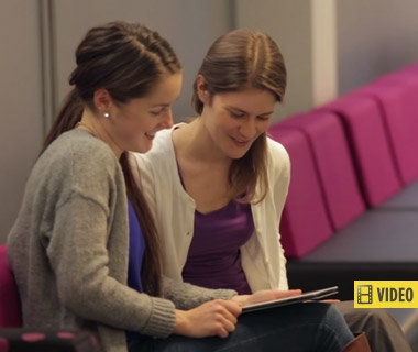 Students using CEMC courseware - this story contains video