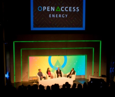 Panel members at opening session of OpenAccess Energy Summit