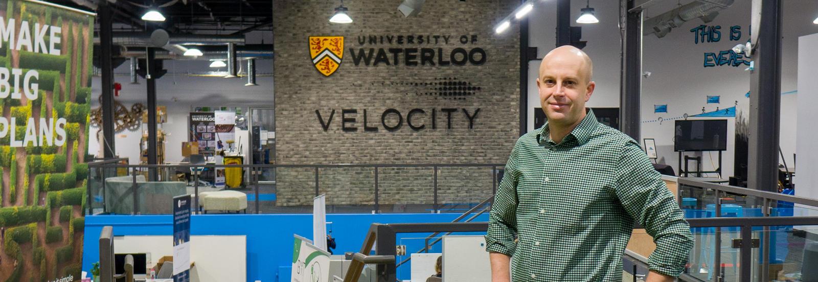 Adrien Cote in Velocity building