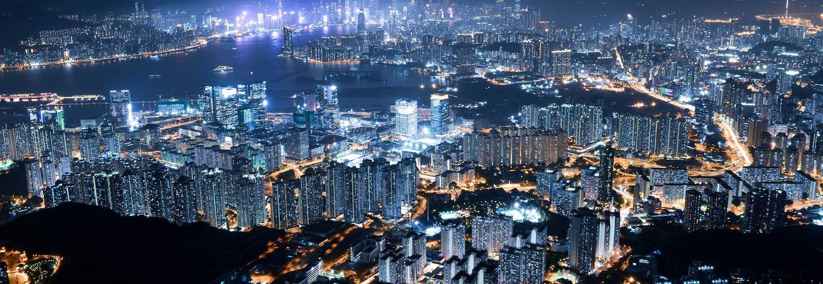 a big bright city