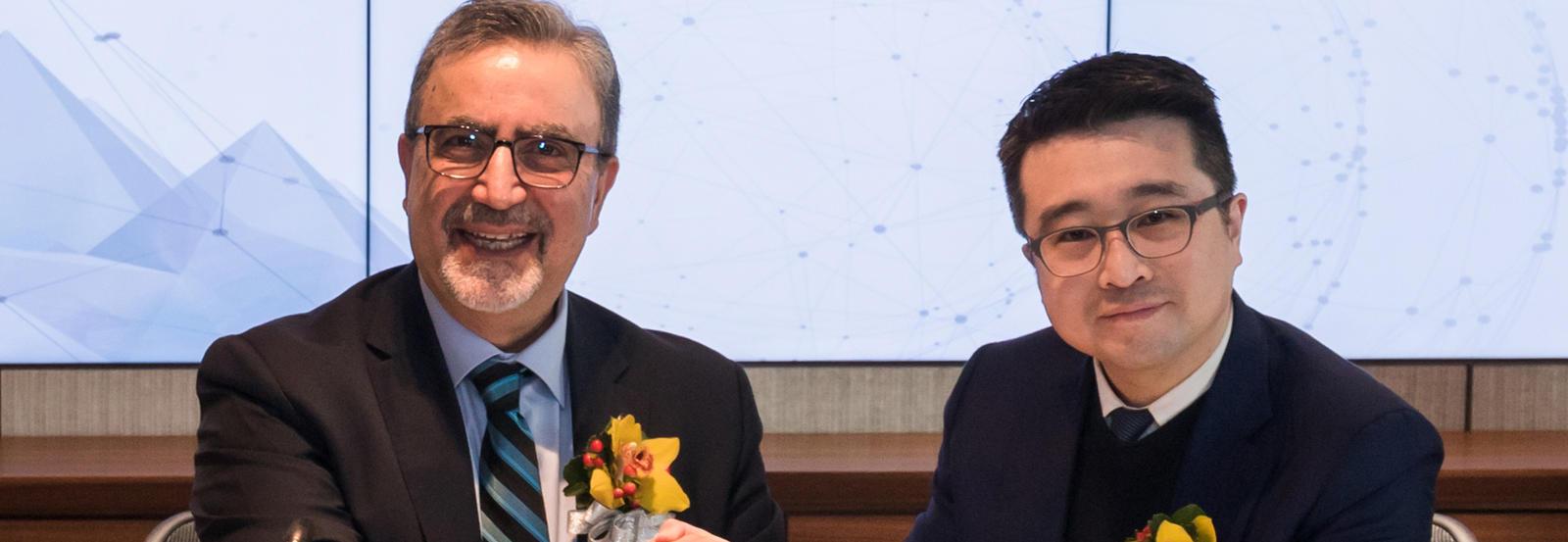 Alumnus Calvin Choi and Feridun
