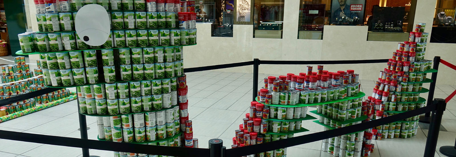 Image of Loch Ness Monster 2018 Canstruction build