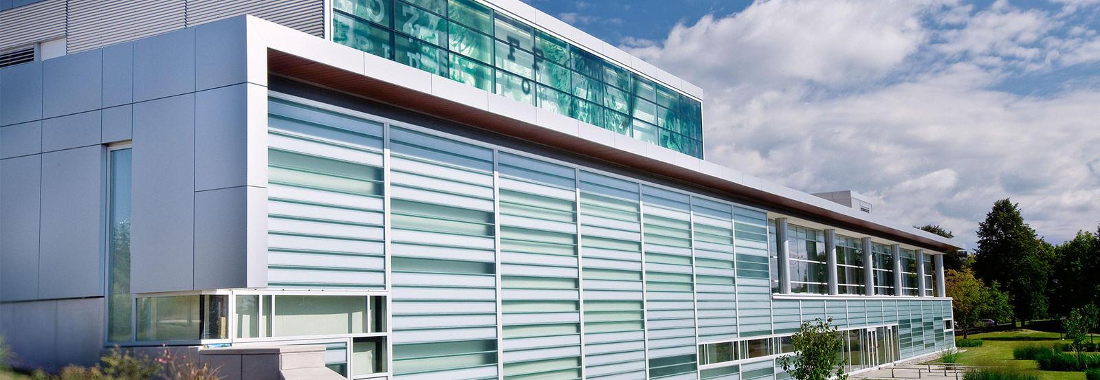 Optometry building in summer
