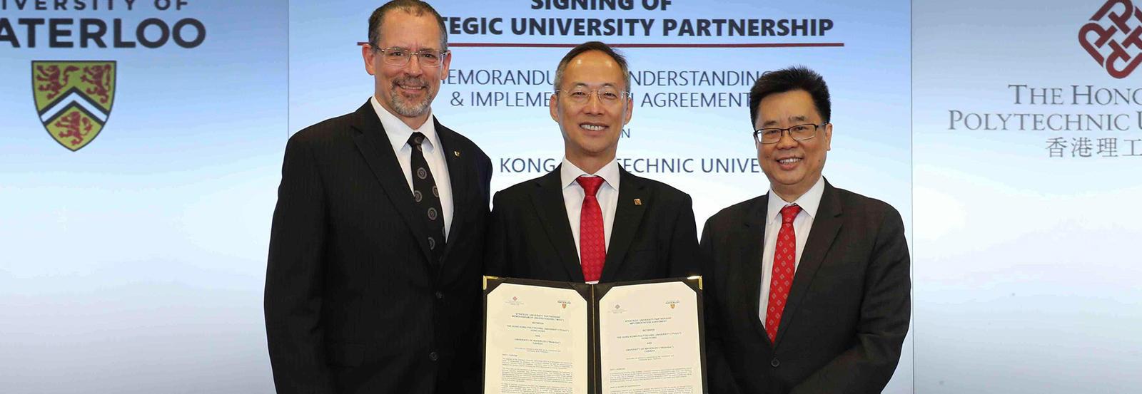 Dean Lemieux with Hong Kong partners