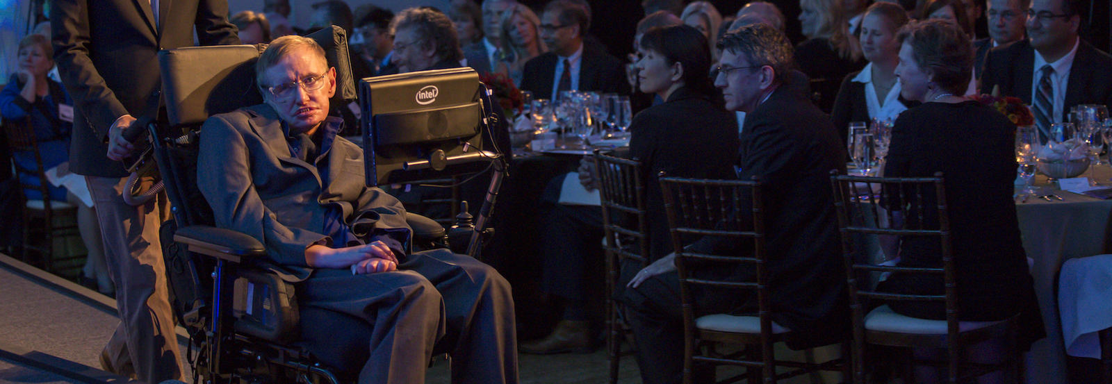 Stephen Hawking during 2012 visit.