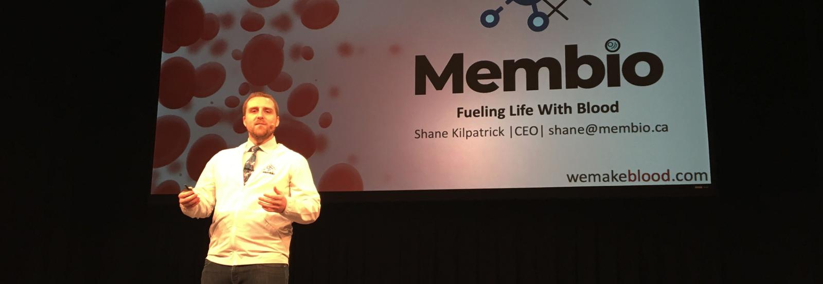 Shane Kilpatrick presenting Membio