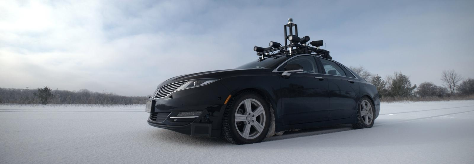 Autonomoose car in winter