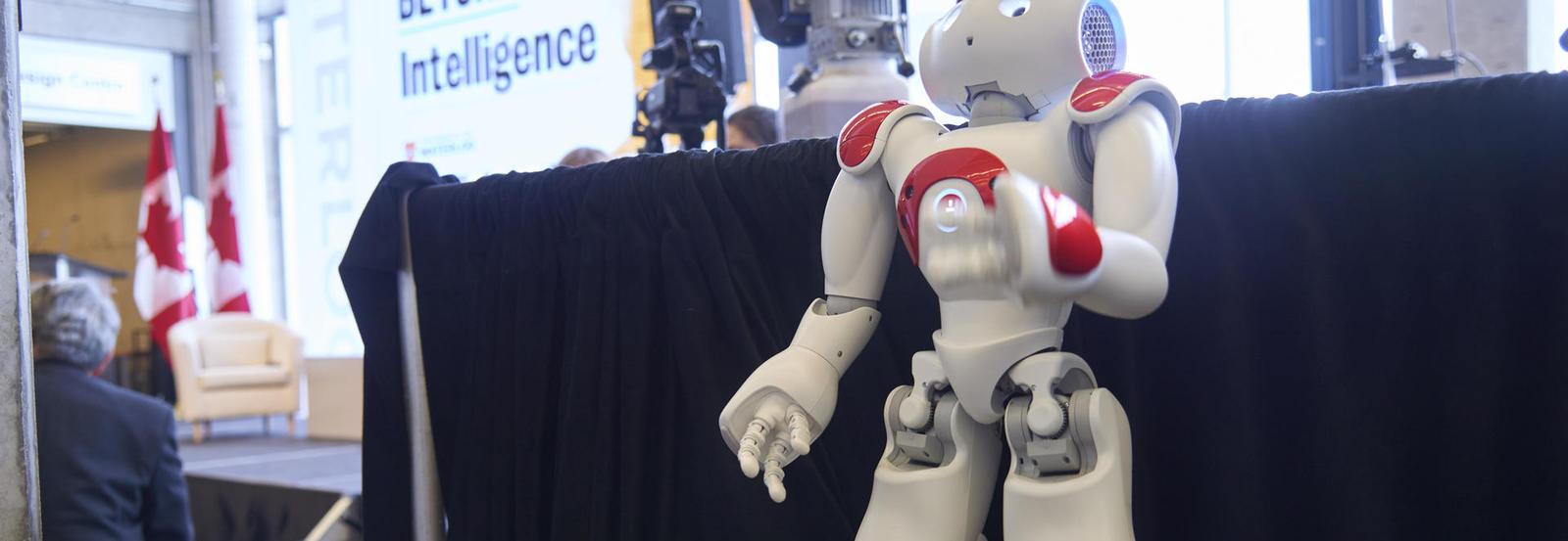 Nao robot at AI launch
