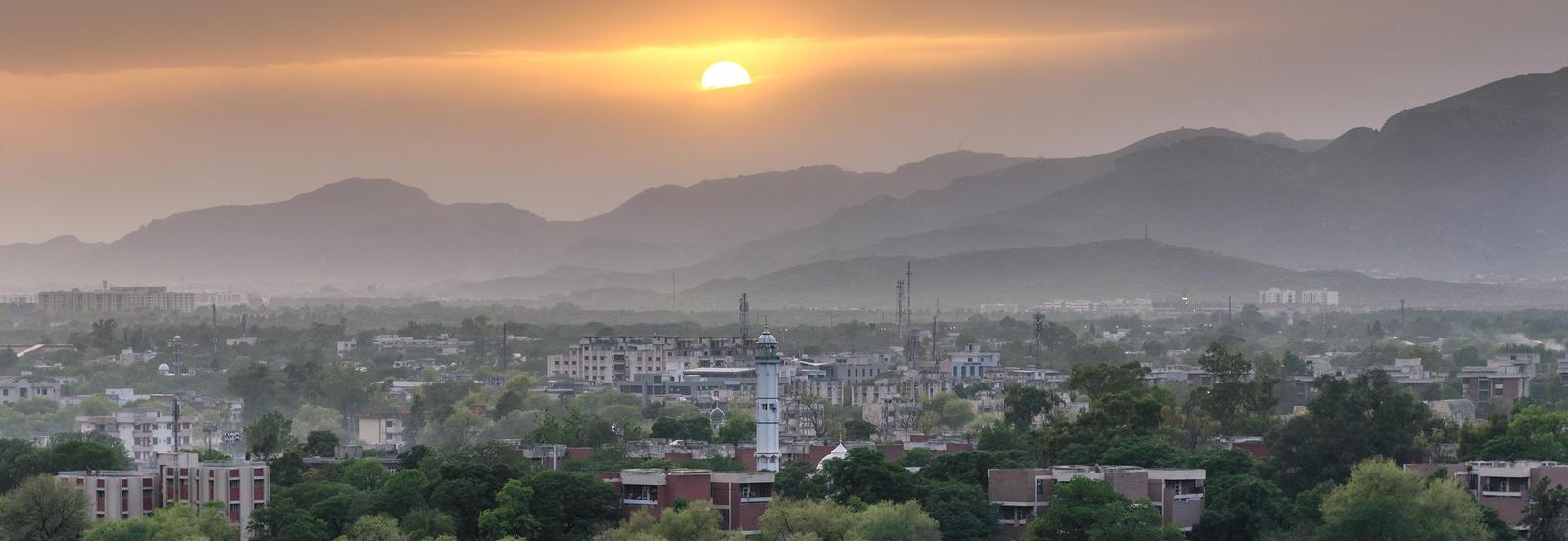 vista of a city in Pakistan