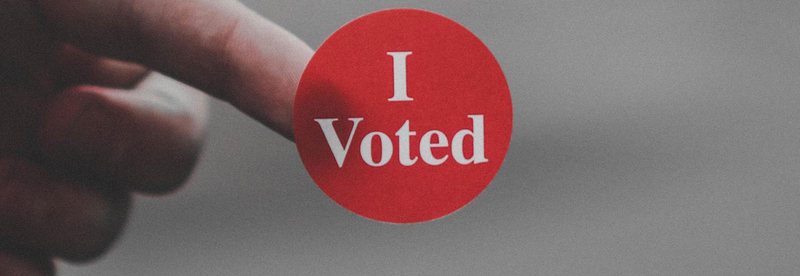 Voting confirmation sticker