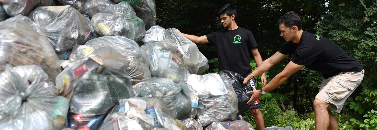 Pickwaste founders picking up garbage