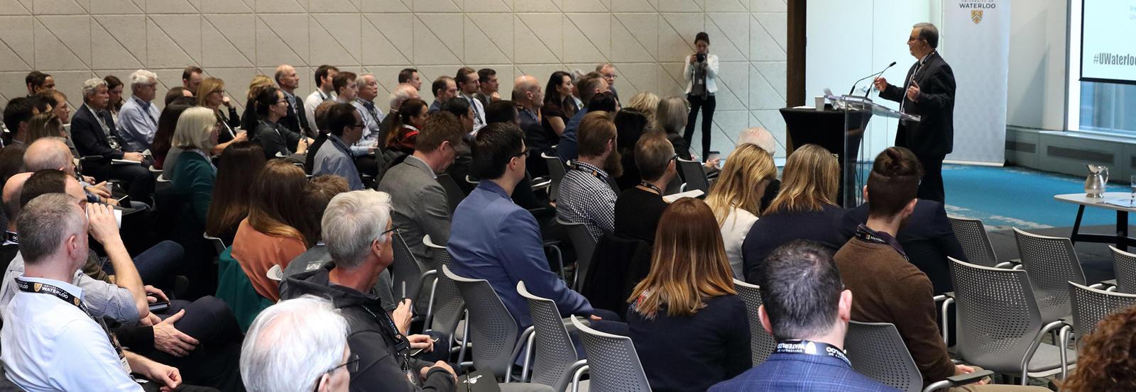 Feridun Hamdullahpur speaking at WIS Vancouver summit