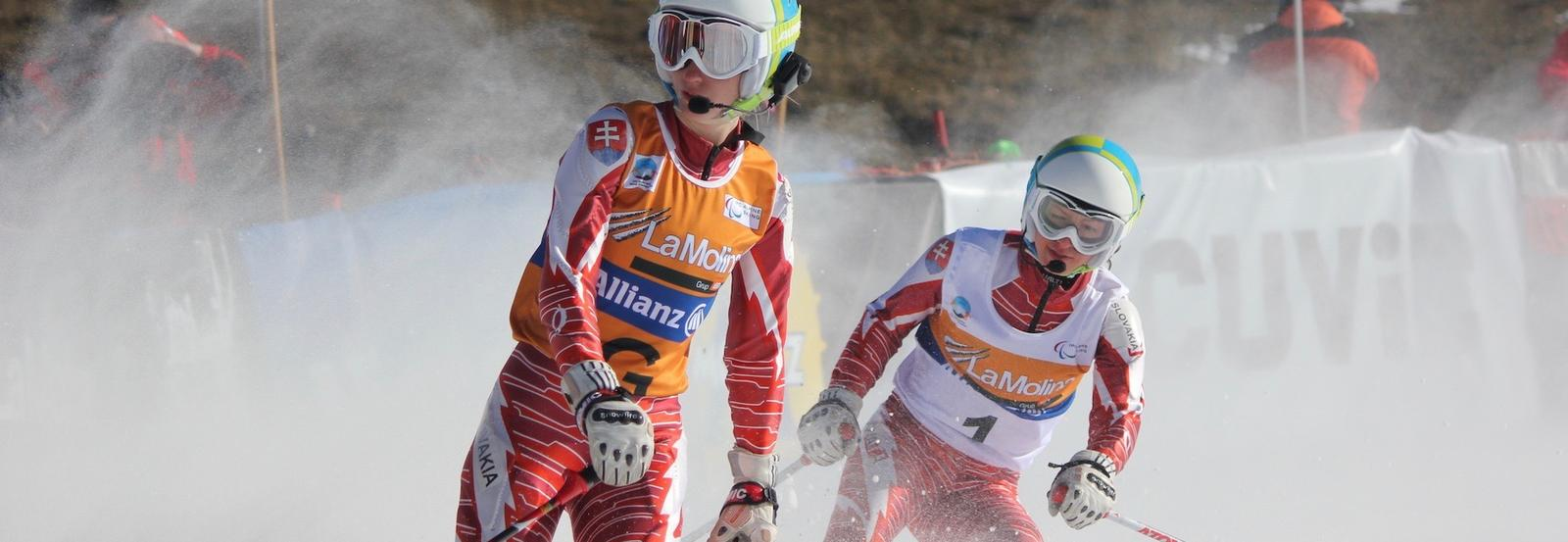 The women's visually impaired Super-G event at the 2013 IPC Alpine World Championships in La Molina, Spain.