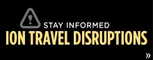 Stay informed about ION-related travel disruptions