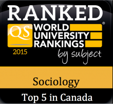 QS world university ranking for sociology sticker.