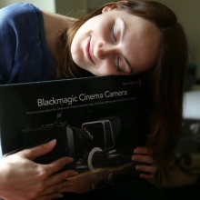 picture of Set Shuter with blackmagic cinema camera box.