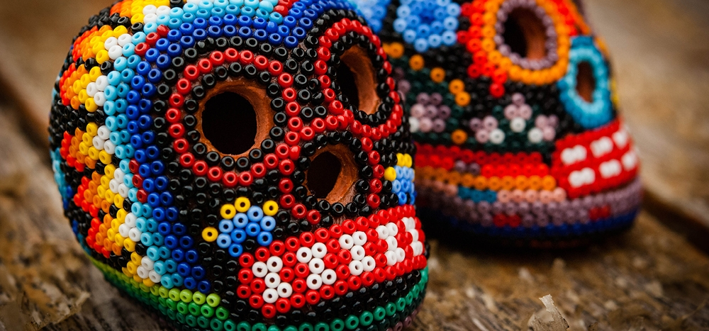 Skulls made out of beads
