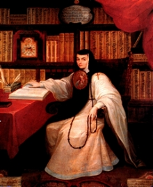 Painting of  Sor Juana Inés de la Cruz by Miguel Cabrera