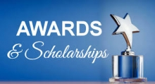 Pictures of awards and scholarships