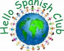 Sign saying Hello Spanish Club