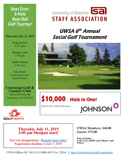 2019 UWSA Social Golf Tournament | University of Waterloo Staff